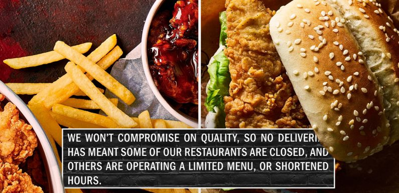 KFC spill the 'BBQ beans' and reveal why a number of stores across Britain have randomly shut
