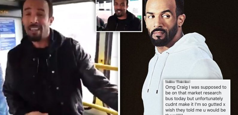 Video of Craig David performing on random London bus labelled FAKE as the 'set-up' clip goes viral