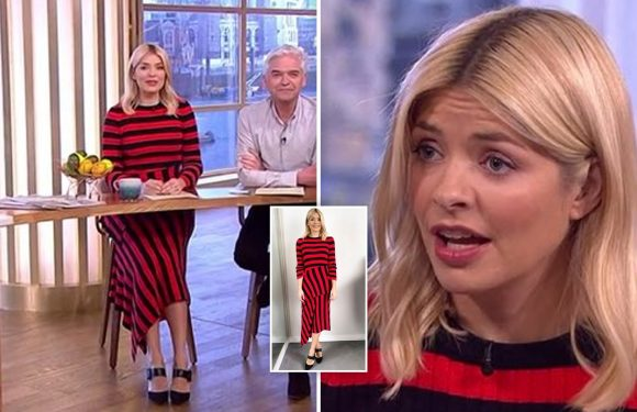 This Morning viewers mock Holly Willoughby's 'Dennis The Menace' outfit – labelling it 'in your face' and 'quite aged'