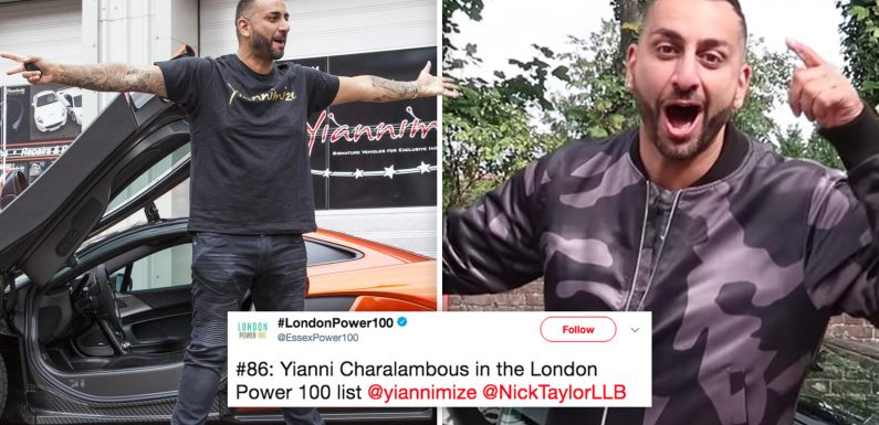 Wrap King: Yianni Charalambous says 'thank you' after being ranked one of London's most influential people