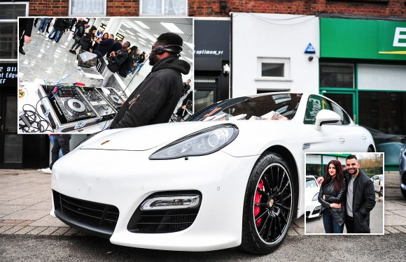 GALLERY: What happens when an international club DJ 'gives away' his £60,000 Porsche Panamera to a lucky fan for just £50
