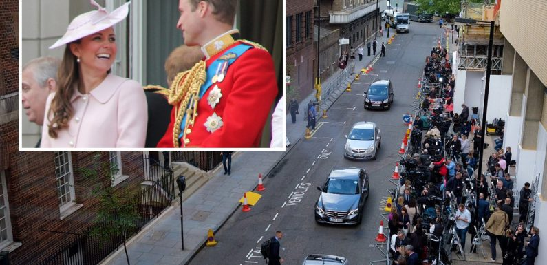 Royal baby – The Duchess of Cambridge taken to St Mary's Hospital as she goes into labour with her third child