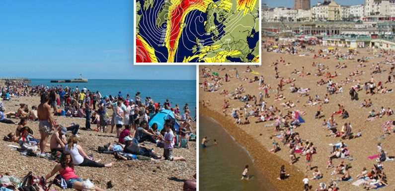 Get your beach towels out: Britain expected to be hotter than Greece next week with highs of 22C in week-long heat wave