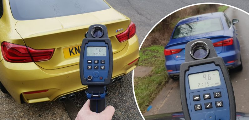 Luxury BMW and Audi cars worth thousands clocked driving more than 105mph in major police operation to crack down on speeding