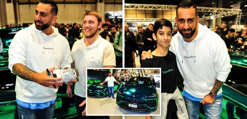 In Pictures: Hundreds stand in line at Autosport expo at NEC in Birmingham to meet TV and YouTube star Yianni from Yiannimize