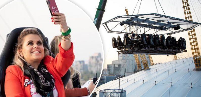 Fly me to the O2!: Our reporter mingles with celebs and sips cocktails 100 feet in the air as London In The Sky comes to the capital