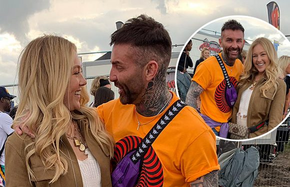 Coach Trip's Andrew 'Goffy' Gough pictured getting up close with fellow E4 star Hollie Hobin at Strawberries & Creem music festival