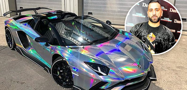 Supercar wrapper Yianni Charalambous gears up for European tour and shares first pictures of his colour-changing Lamborghini Aventador