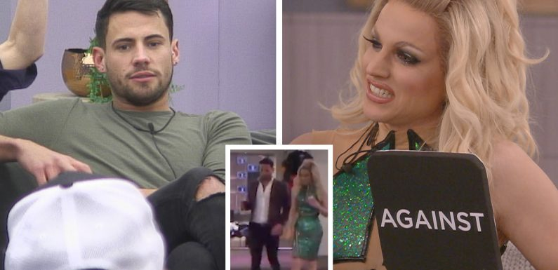 What exactly did Courtney 'push' into Andrew inside the Celebrity Big Brother bathroom?