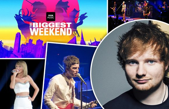 Ed Sheeran, Taylor Swift and Noel Gallagher are amongst dozens of star-studded acts confirmed for the BBC's 'biggest ever celebration of music'