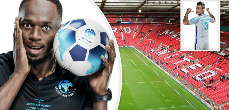 Usain Bolt vs Robbie Williams: A-list celebs get ready to take on the Old Trafford for Soccer Aid