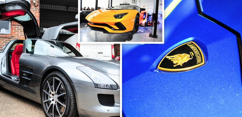 GALLERY: £Millions worth of supercars flock to London for annual 'Supercar Sunday' event featuring first public appearance of the Lamborghini Urus
