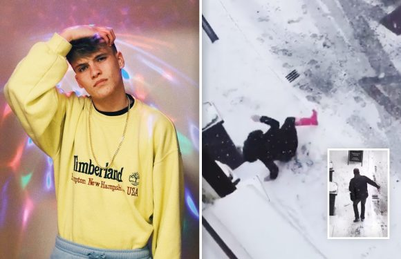 'Stop taking life too seriously' – Meet the man who's raked in over 4 MILLION views filming people slipping on ice in Manchester
