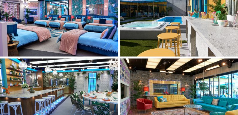 First look inside the Celebrity Big Brother house which bosses say is inspired by Palm Springs and is a 'paradise of tropical prints'