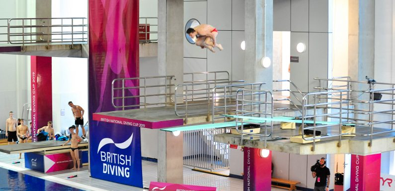 British National Diving Cup: Daniel Goodfellow, Anthony Harding, Adrian Giovanni Abadia Garcia and Ross Haslam storm 3m board
