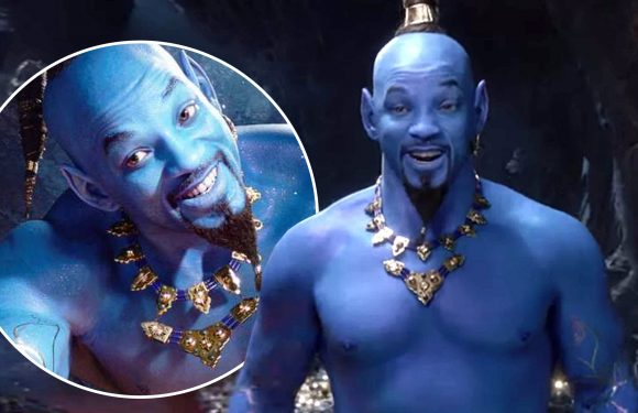 Will Smith as Aladdin 2019 genie labelled 'horrible' in social media MELTDOWN as official trailer is revealed at Grammys