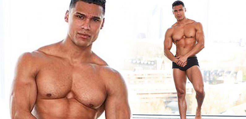Love Island hunk Rykard Jenkins strips down to tiny black boxer shorts as he shows off his toned body in Bank Holiday Weekend snap