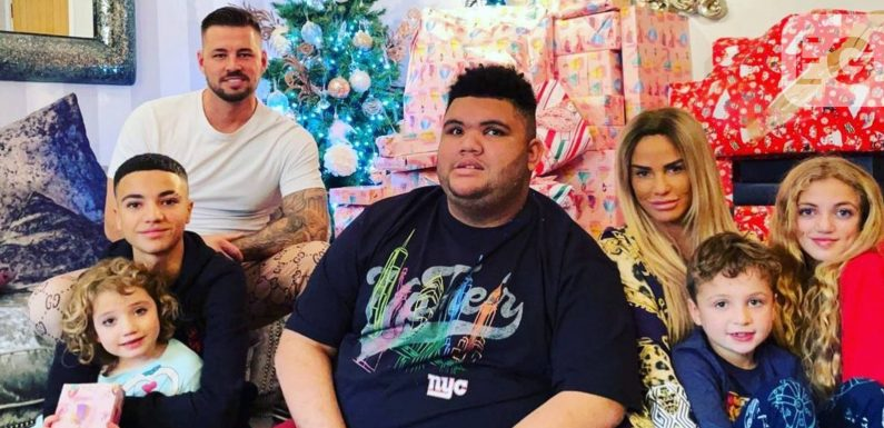 Katie Price shares Christmas family photo including Carl Woods