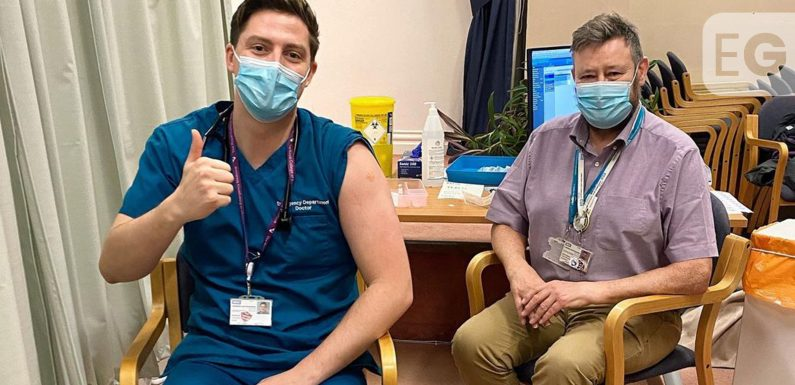 Dr Alex George 'emotional' after he gets Covid-19 vaccine
