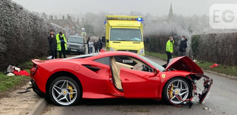 Ferrari driver, 60, arrested after crashing into pedestrian