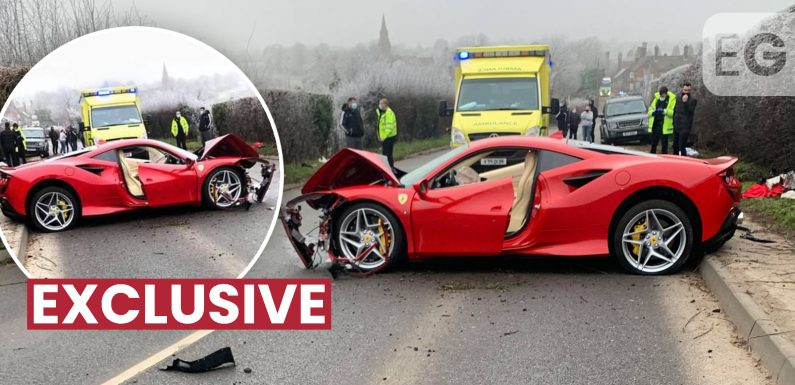 Driver crashes special edition Ferrari worth £200,000