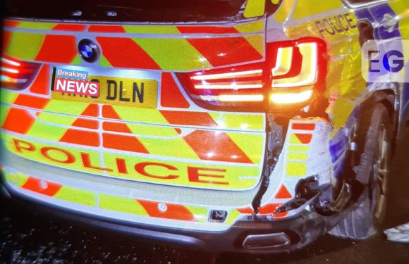 Sleeping driver drifts across M1 before smashing into police