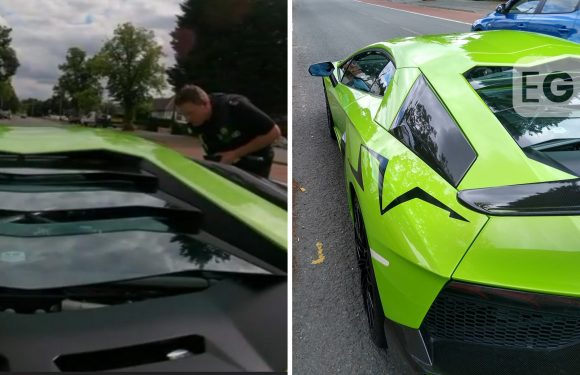 Watch as Lamborghini driver caught on mobile phone