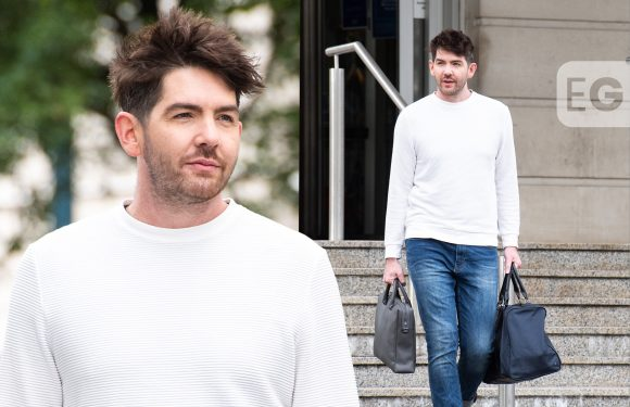 Actor Scott McGlynn spotted filming new TV series