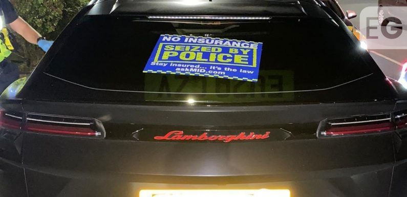 Police seize uninsured £200k Lamborghini Urus on M1