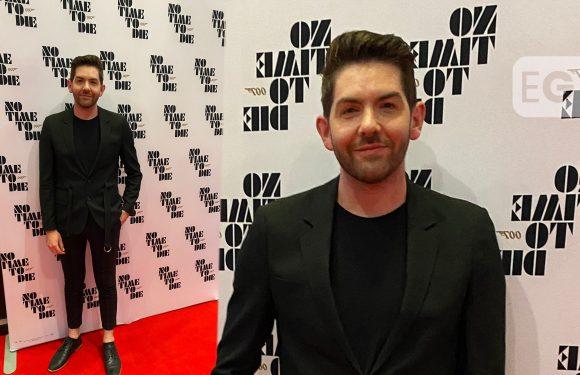 Scott McGlynn cuts sharp figure at No Time To Die premiere